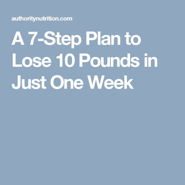 A 7-Step Plan to Lose 10 Pounds in Just One Week