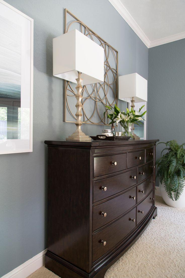Bedroom dresser, lamp, art, decor | Interior Designer: Carla Aston / Photographer: Tori Aston