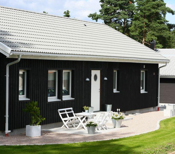 Älvsbyhus modell Regin utan sadeltak över entrén.