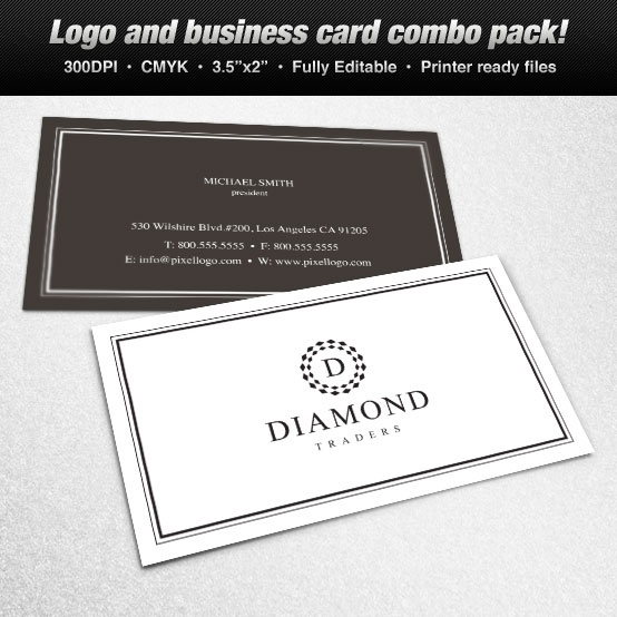 Business cards jewelry theme images card design and card template a logo business card set design suitable for jewelry themes logo a logo business card set reheart Images