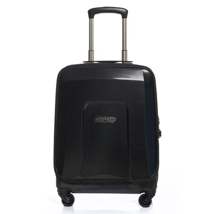 #Handgepäckskoffer EPIC HDX Hexacore Fastback bei Koffermarkt: ✓schwarz ✓4 Rollen ✓IATA-konform 55x40x20 cm ✓Frontfach ✓für Business ✓39 Liter Volumen