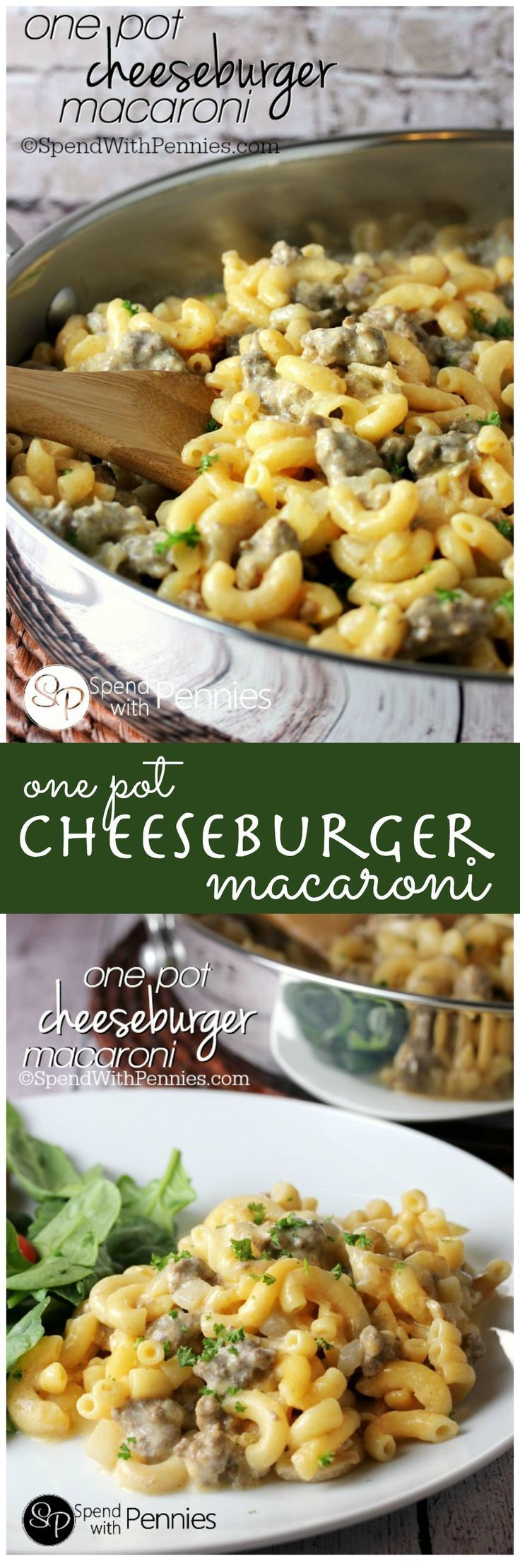 One Pot Cheeseburger Macaroni!  So easy and delicious, you'll never buy boxed again!