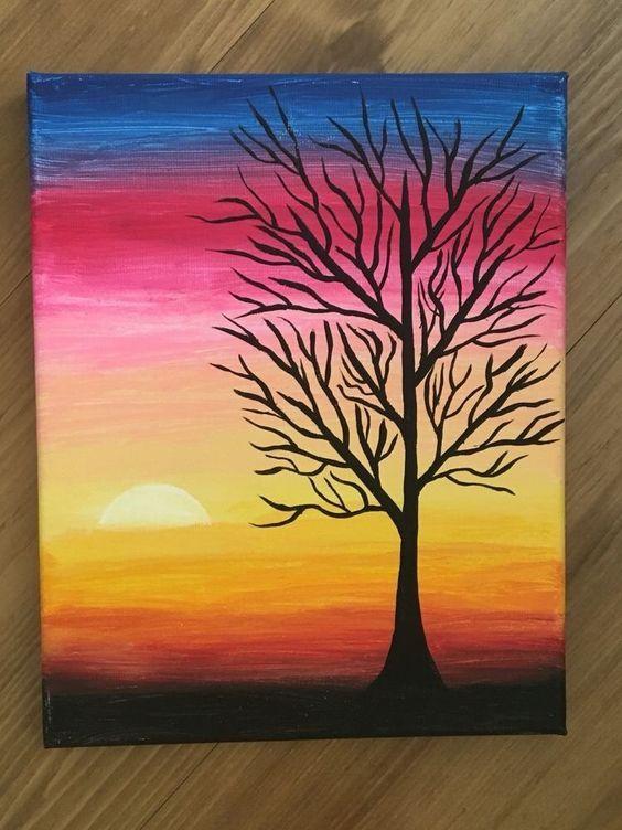 Pin By Hosein On Canvas Art Ideas Oil Pastel Art Simple Canvas Paintings Canvas Art Painting