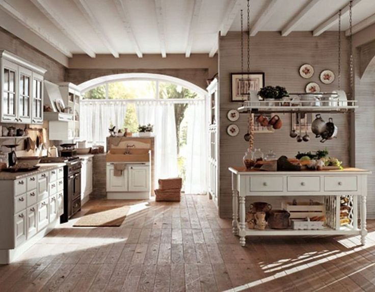 At Home Through Country Style Interiors Traditional Country Kitchen