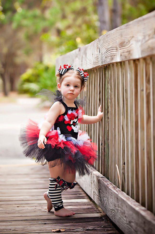 Pirate Girl Costume TuTu Set.