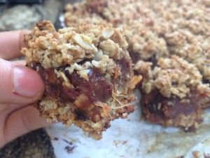 Coconut Date Squares.  Warning: These did not last long !