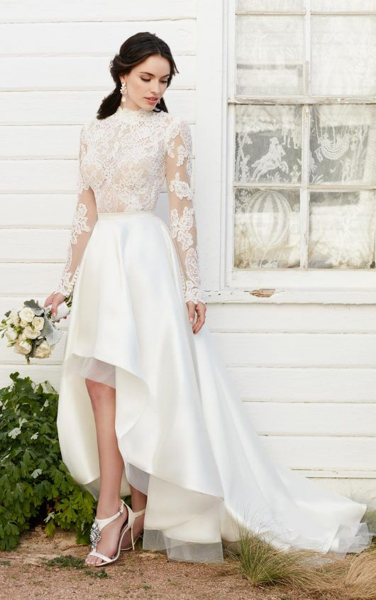 Jude + Sia Illusion lace high-low skirt wedding separates by Martina Liana