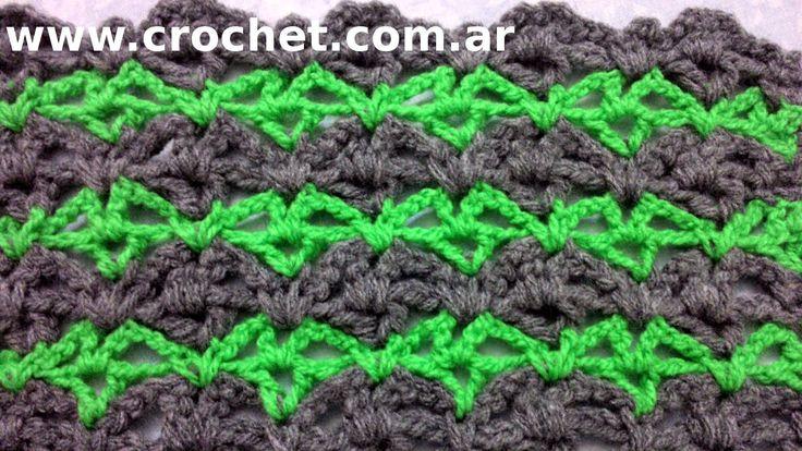Punto Fantasía N° 18 en tejido crochet tutorial paso a paso.