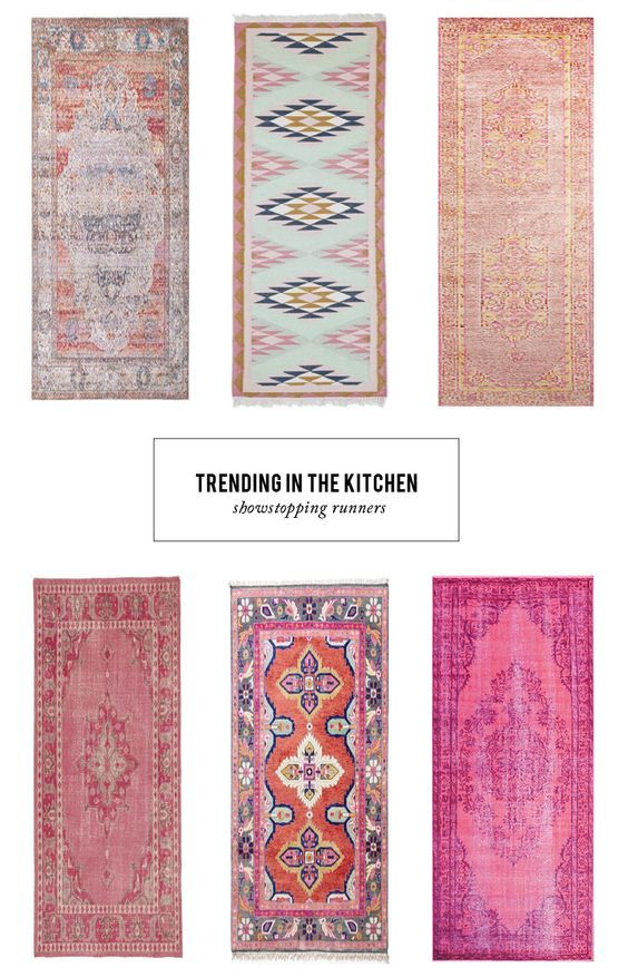 We rounded up 12 of our favorite show-stopping runners to add to your kitchen   See them all here... http://www.stylemepretty.com/living/2016/03/18/a-pinterest-worthy-kitchen-starts-with-this-colorful-trend/: