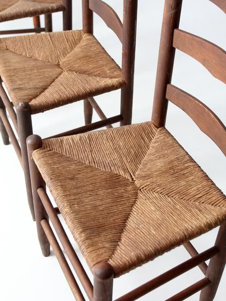 antique ladder back chairs with rush seat - Antique Ladder Back Chairs With Rush Seat In 2018 Chairs