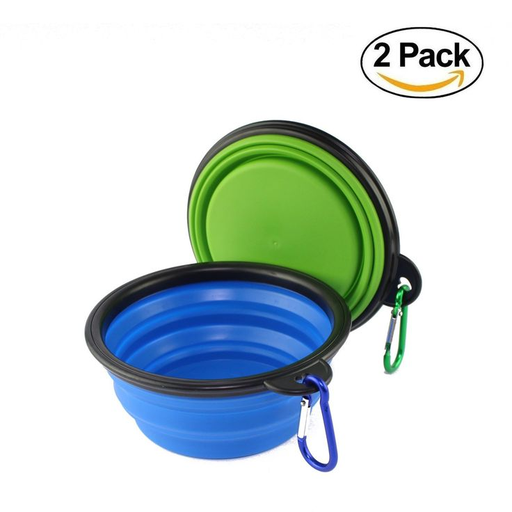 wangstar Collapsible Travel Dog Bowl, Set of 2, Portable Dog Water Bowl Pet Collapsible Bowl Dog Dishes for Dogs Cats, BPA Free Food Grade Silicone Safe, Free Carabiner *** You can find more details by visiting the image link. (This is an affiliate link and I receive a commission for the sales)
