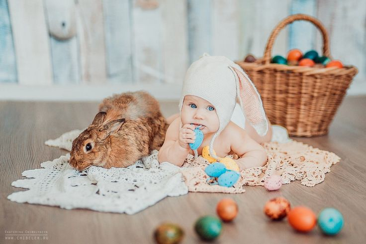 Spring, easter, ideas, decorations, baby, photosession