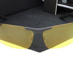 Štýlové polarizované okuliare na nočnú jazdu.