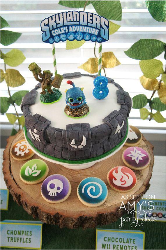 Skylanders Cake Topper  Printable DIY by lulucole on Etsy, $4.00