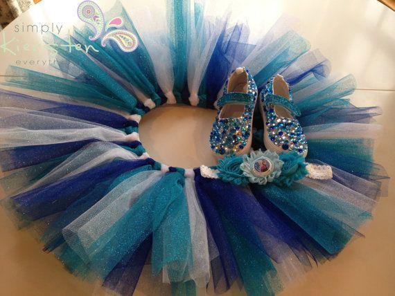Disney Frozen Inspired Clothing, Custom Tutu, Shoes and Headband - amazing gift for any Frozen-loving little girl!!!