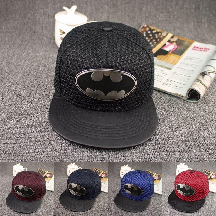 New Arrive Fashion Gorras Planas Hip Hop Hat Batman Baseball Cap Visor Casual Bone Snapback Caps for women men