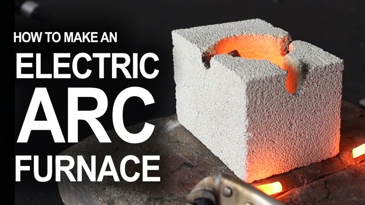 How To Make An Electrical Arc Furnace: How to hack flashlight batteries and a fire brick, into a desktop arc reaction chamber.  ...For hobby metal melting, and for science!