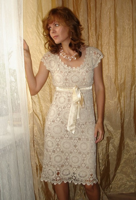 Elegant crochet dress made to order by marifu6a on Etsy, $500.00