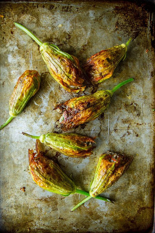 Lamb and Rice Stuffed Squash Blossoms