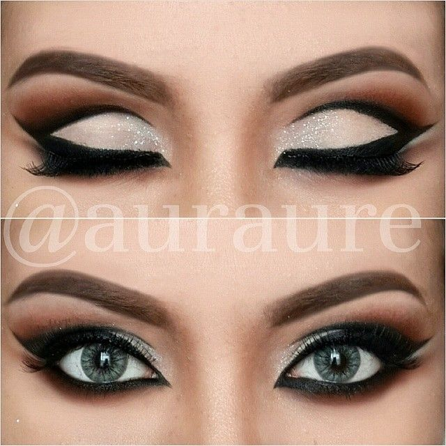 Dramatic eye shadow look auraure makeup pinterest for Bedroom eyes makeup