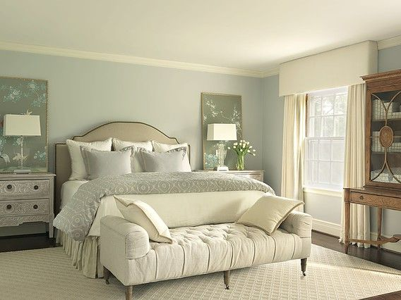 Classic Serene Bedroom With Sage Green Panels Bedrooms Pinterest Serene Bedroom Interiors