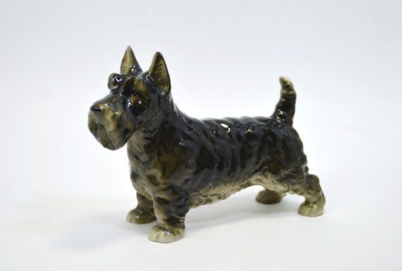 Occupied Japan Dog Figurine Schnauzer Made By