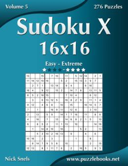 Become a master in solving Sudoku X 16x16. After solving all the puzzles in this book, you will be a Sudoku X Pro. You start with easy Sudoku X puzzles and you gradually build your way up to extremely difficult Sudoku X puzzles. Once you pick up this book, you won't be able to put it back down. You have been warned! #coloringartist