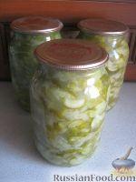 Фото к рецепту: Салат из огурцов на зиму  «Зимний король»