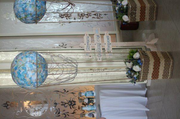 Имитация воздушных шаров для общего декора зала