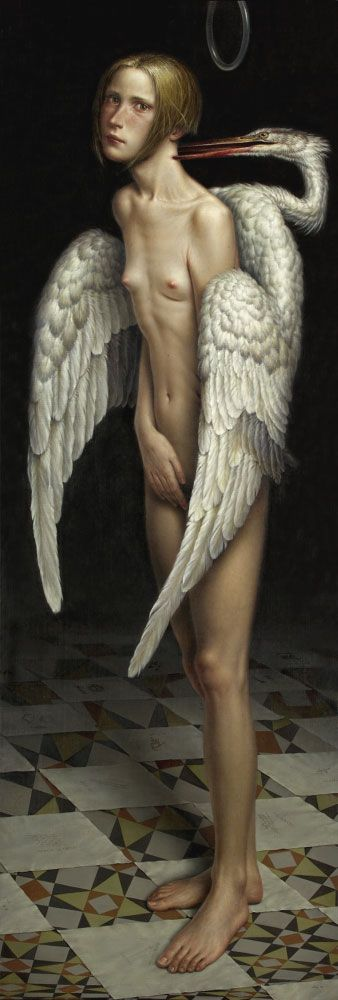 MELANCHOLIA, Oil / canvas / wood, 175 x 61 cm, 2003... painting by Dino Valls