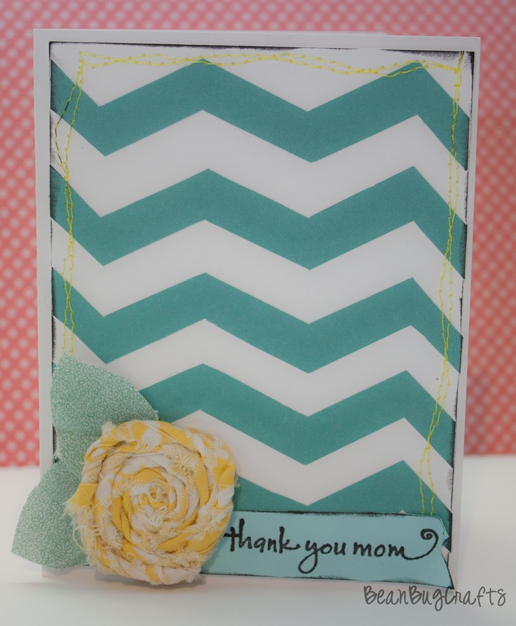 Chevron Card Tutorial. Thank You Mom Card. The perfect card for Mother's Day. #cards #mothersday #DIY