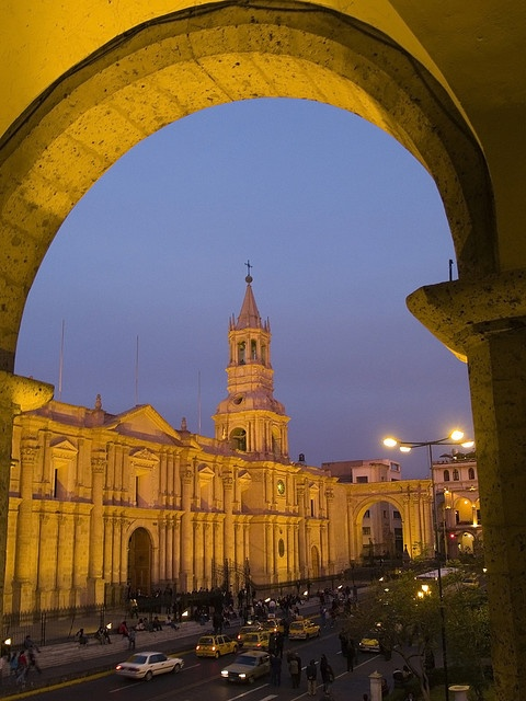 La Catedral, Plaza de Armas - Arequipa, Peru
