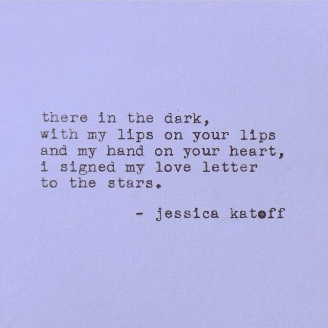 she has the best short poems #jessicakatoff