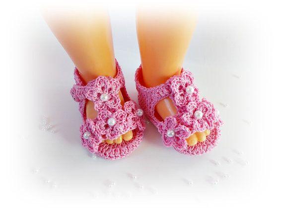 >> Click to Buy << Crochet baby sandals,Newborn Pink summer sandals, barefoot baby sandals 9cm,10cm,11cm #Affiliate