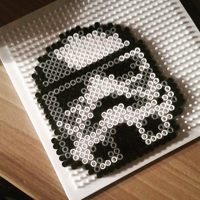 Stormtrooper Star Wars hama beads by m_whim