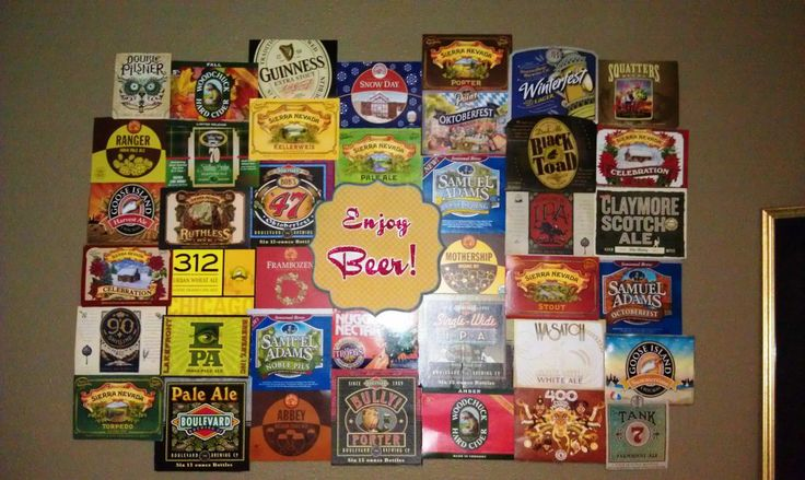 Beer Carton Wall Art-I can do this! World Market gives these cartons away!  Crafty Stuff  Pinterest  Beer, Wall Art and Backdrops
