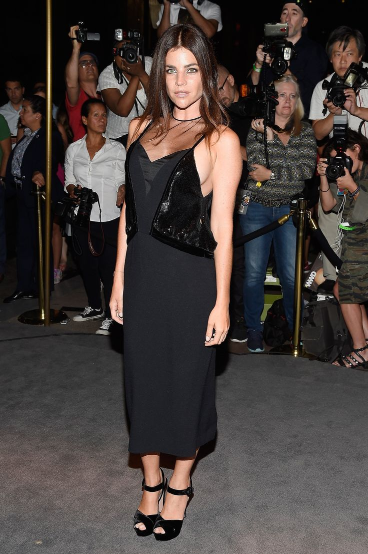 Julia Restoin Roitfeld au défilé Tom Ford, Fashion Week de New York, Septembre 2016
