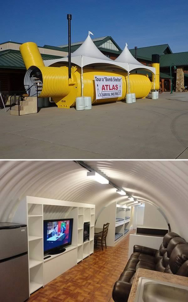 The $60,000 corrugated pipe bunker that was created to survive doomsday