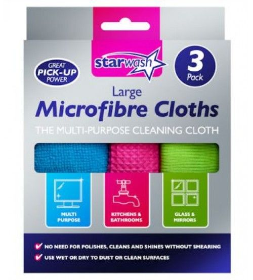 Buy Now 3pk Microfibre Cloths in Online @ http://www.4pound.co.uk/3pk-microfibre-cloths Get 10% discount on all Your Orders.