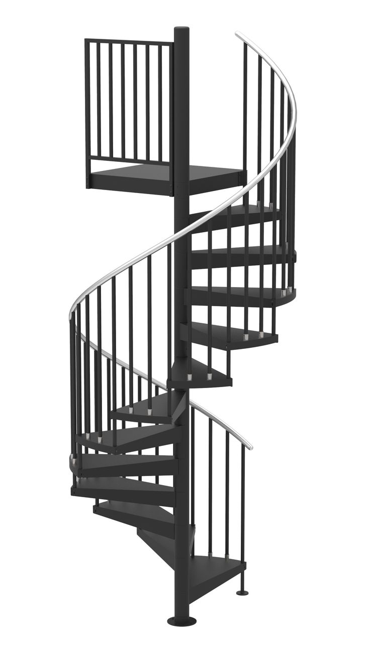 Best 60 D Classic Iron Code Compliant Spiral Stair Kit Primed 400 x 300
