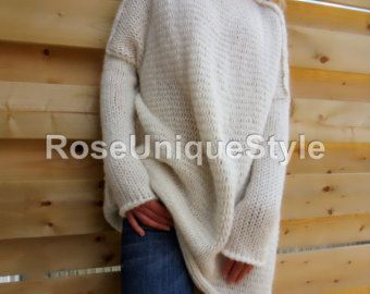 Slouchy/Bulky /Oversized sweater.Chunky knit by RoseUniqueStyle