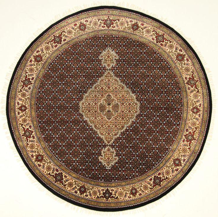 Tabriz Mahi Handgeknüpft orientalisch Teppich 200 x 200 cm  orient matto
