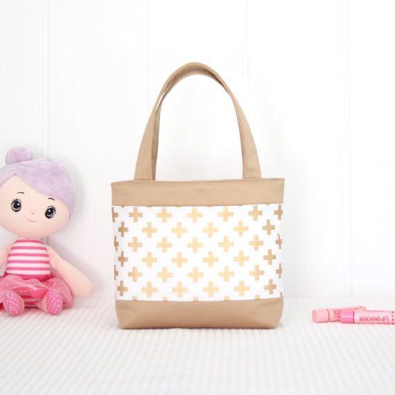 Little Girls Bag / Mini Tote Bag / Girls Bag by VickiElleHandmade