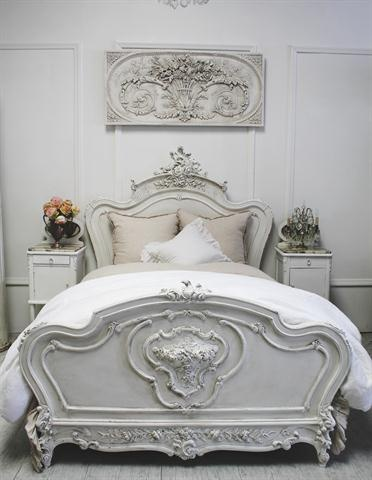 French bed with Rose Carvings