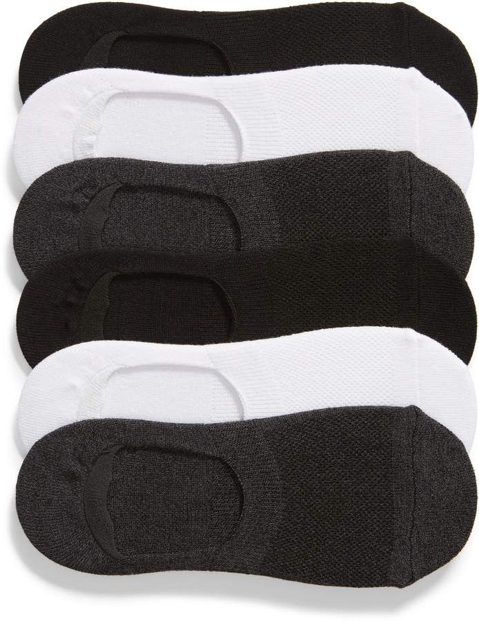 Nordstrom Womens Sport Low Cut Liner Lightweight Ankle Comfort Socks 6 Pack