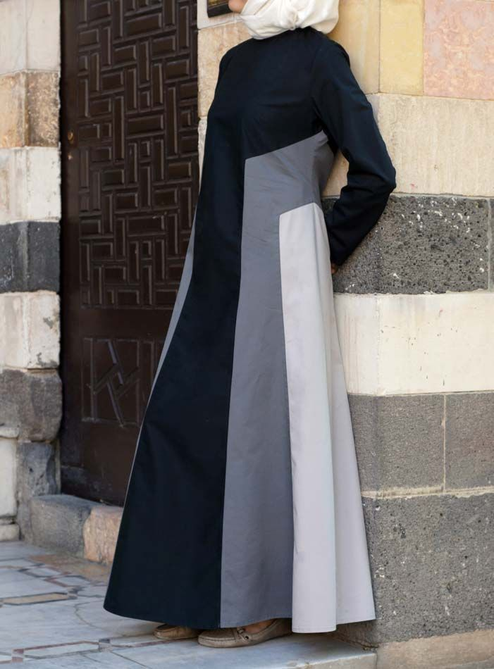 SHUKR USA   Tri-Color Cotton Dress