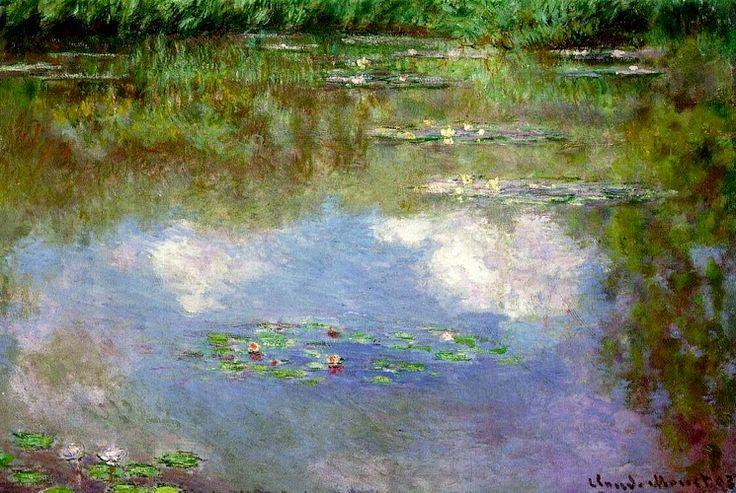 Nymphéas (Les nuages) (1903), huile de Claude Monet (1840-1926, France)