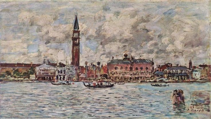 Plaza de San Marcos en Venecia, 1895