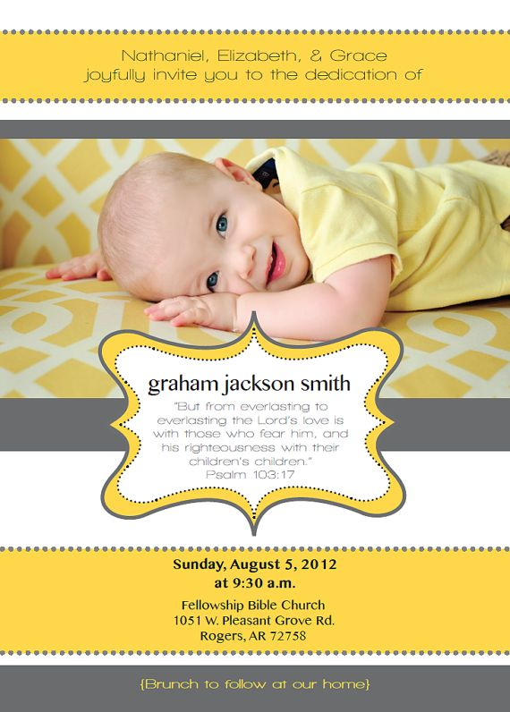 Custom Baby Dedication By Yellowdeskdesigns On Etsy 15 00 Things Pinterest And Ideas