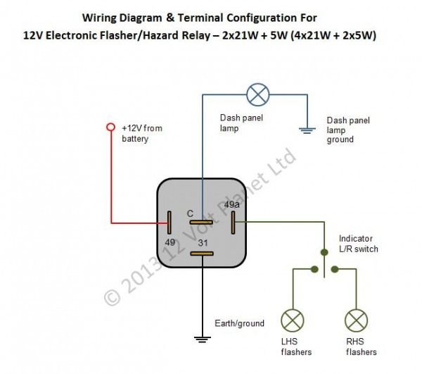 4 Wire Flasher Diagram - Wiring Diagram Host Basic Prong Relay Wiring on 4 pole switch wiring, 5 prong relay wiring, 4 prong starter relay, 4 prong relay harness, 4 prong horn relay,